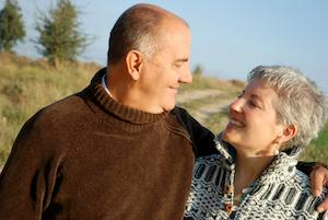 A elder couple looks at each other | Dentures Candia NH